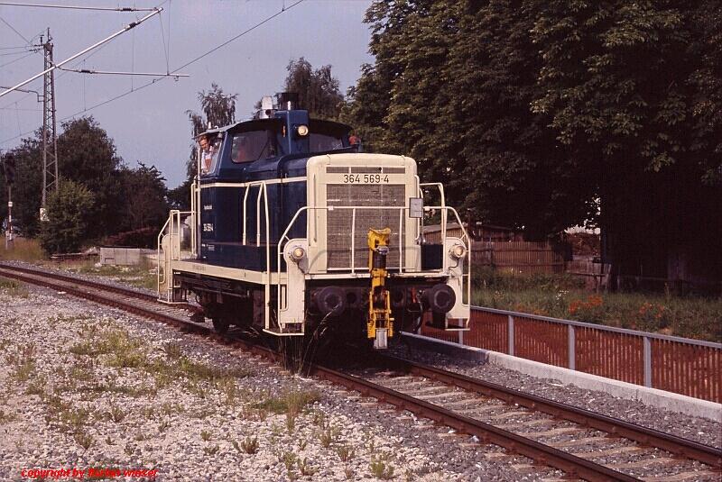364 569-4 rangiert in Gunzenhausen 2008