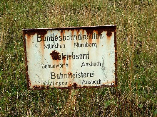 Direktionsgrenze bei Dombühl