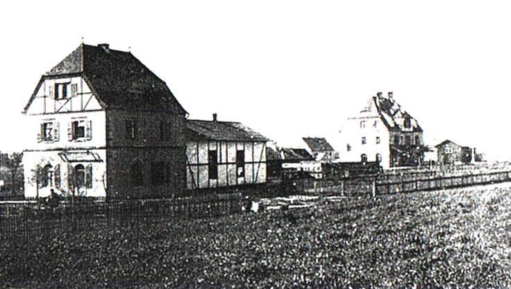 Bahnhof und Maschinenhaus Bechhofen