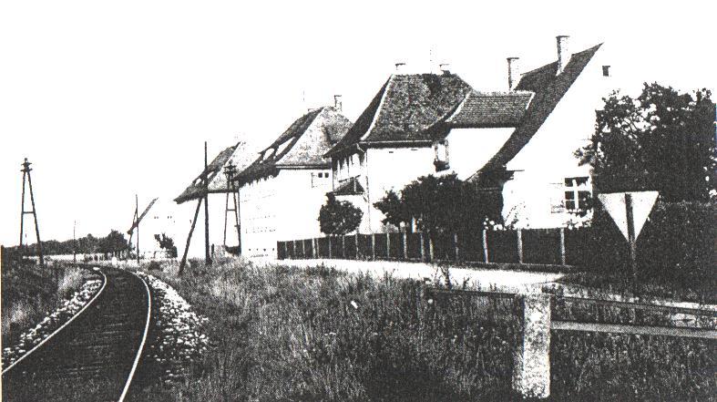 Gleis im Ortsbereich Bechhofen