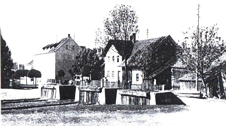 Prellböcke am Ende der Nebenbahn in Bechhofen a. d. H.