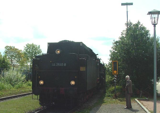 Einfahrt der 44er in Dinkelsbühl - 28.8.2011