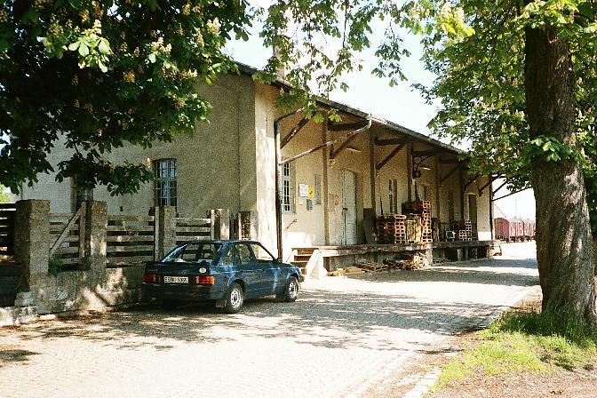 Güterhalle Dinkelsbühl von der Ladestraße aus - Sommer 1985