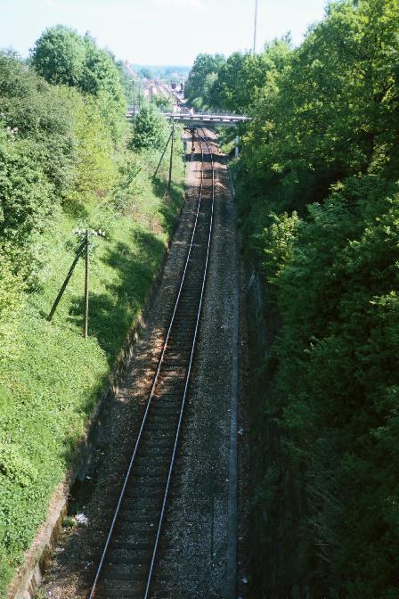 Nördliche Ausfahrt Dinkelsbühl Sommer 1985