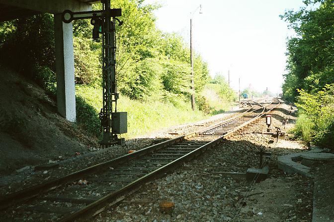 Unter der Stauferwallbrücke - Weiche 17
