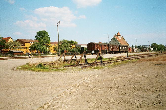 Freiladegleise in Dinkelsbühl 1985