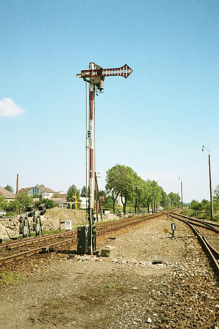 Ausfahrsignal Dinkelsbühl Süd 1985