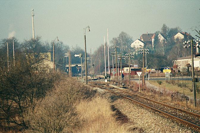 Südliche Einfahrt in Dinkelsbühl 2.1.1990