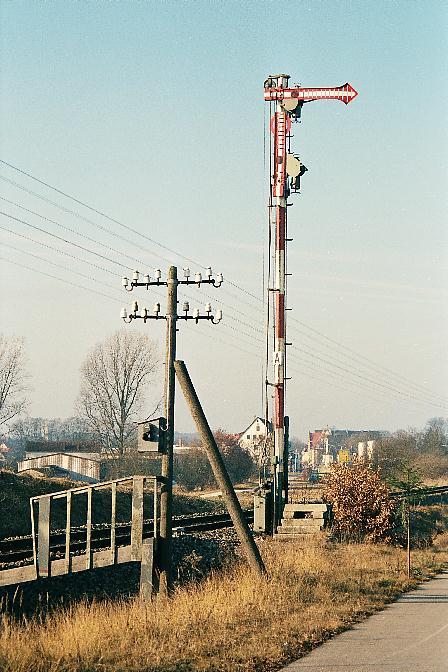 Einfahrhauptsignal Dinkelsbühl Süd 2.1.1990