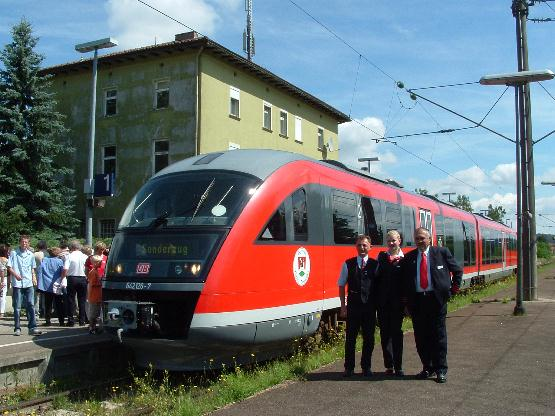 DB-Team des 642 126-7 in dombühl