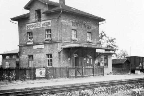 Empfangebäude Dorfgütingen um 1960