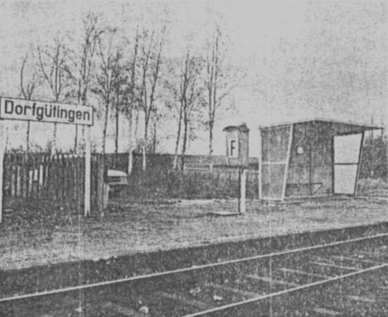 Haltestelle Dorfgütingen um 1980