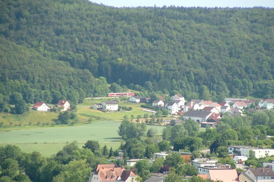 Blick von der Willibaldsburg Richtung Wasserzell 2006