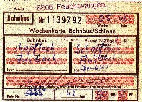 Fahrkarte Schopfloch-Ansbach