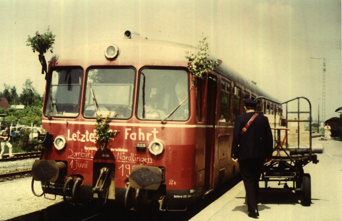 Letzter Halt in Feuchtwangen 1. Juni 1985