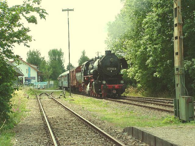 52 8168-8 Bahnübergang Feuchtwangen Juni 2008
