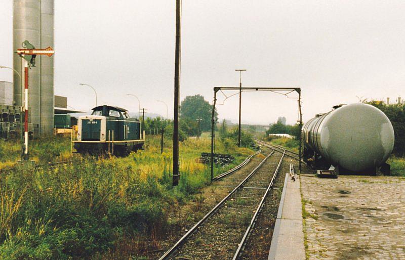 212er rangiert 1987 in Feuchtwangen