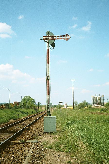 Ausfahrsignal Feuchtwangen Nord Sommer 1985