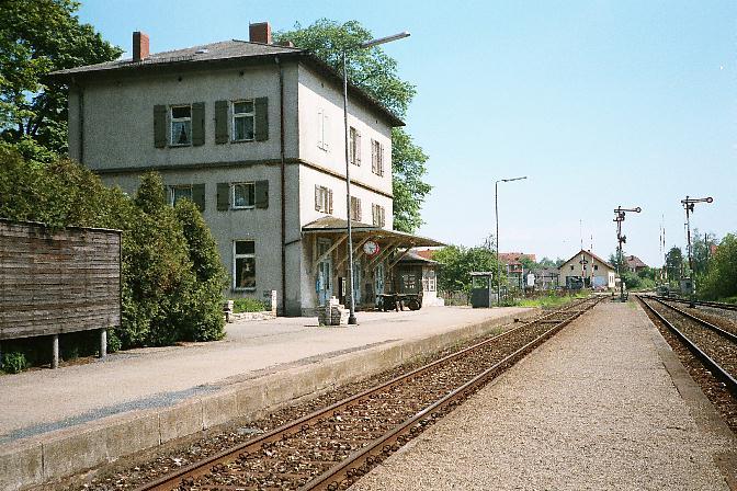 Ausfahrsignale in Feuchtwangen 1985 Richtung Schopfloch