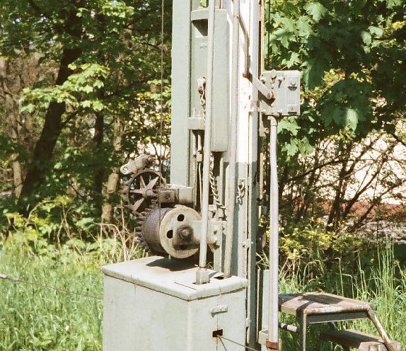Detail Einfahrhauptsignal Feuchtwangen Süd Sommer 1985