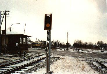Bahnübergang nach dem Umbau