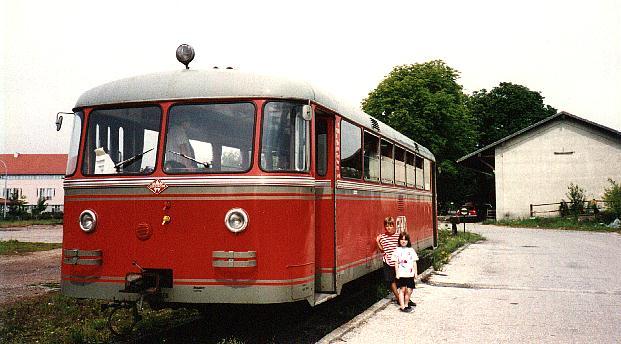 GKB-Schienenbus 1993 in Dinkelsbühl