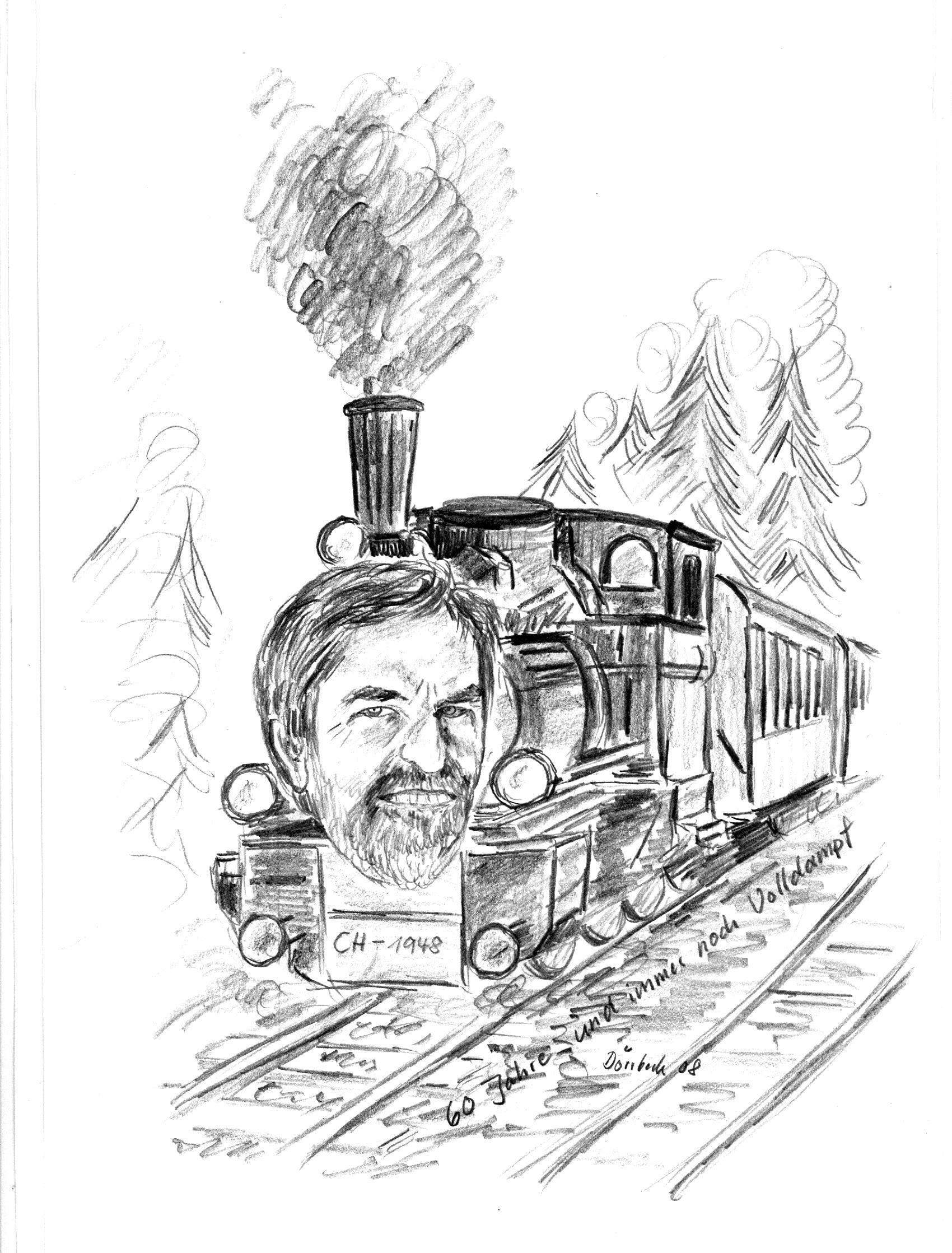 Bild  gezeichnet von Hans Dörrbeck aus Herrieden