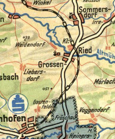 Landkreiskarte aus den fünfziger Jahren - Sparkasse Feuchtwangen