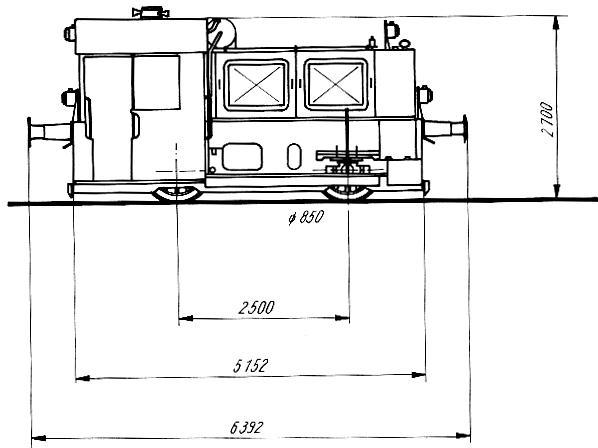 Bauzeichnung Köf II