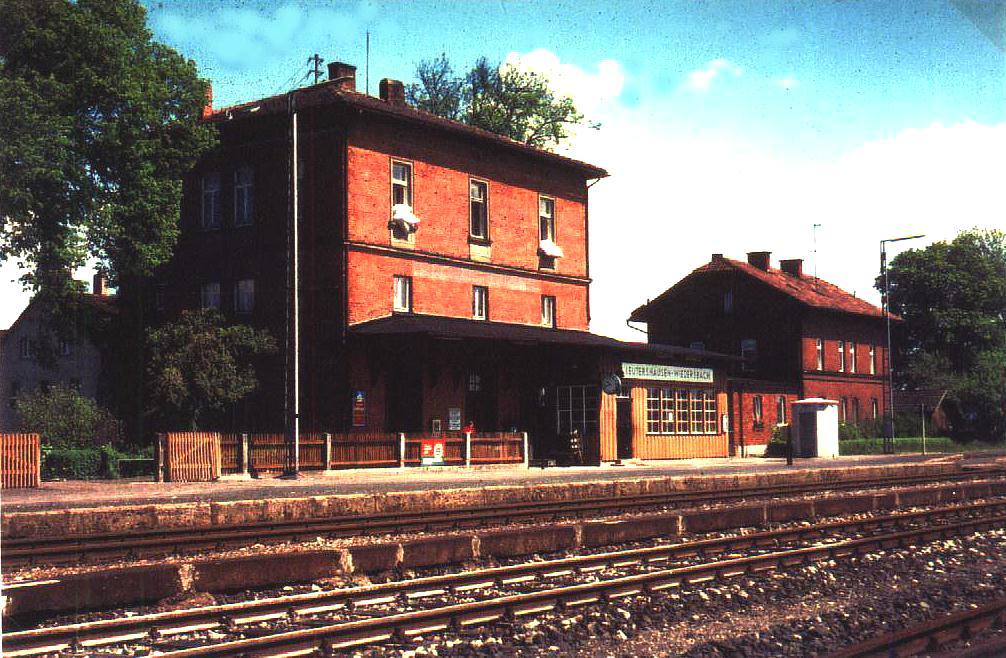 Bhf. Leutershausen-Wiedersbach um 1980