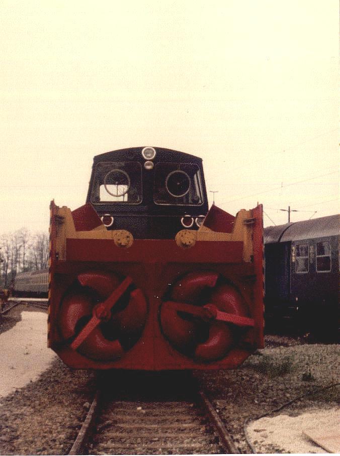 Schneeschleuder in Crailsheim Mai 1985