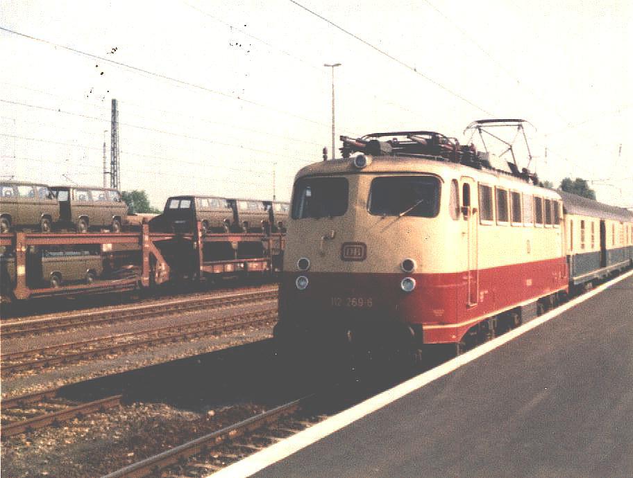 112 269-5 in Crailsheim 3. Juni 1985