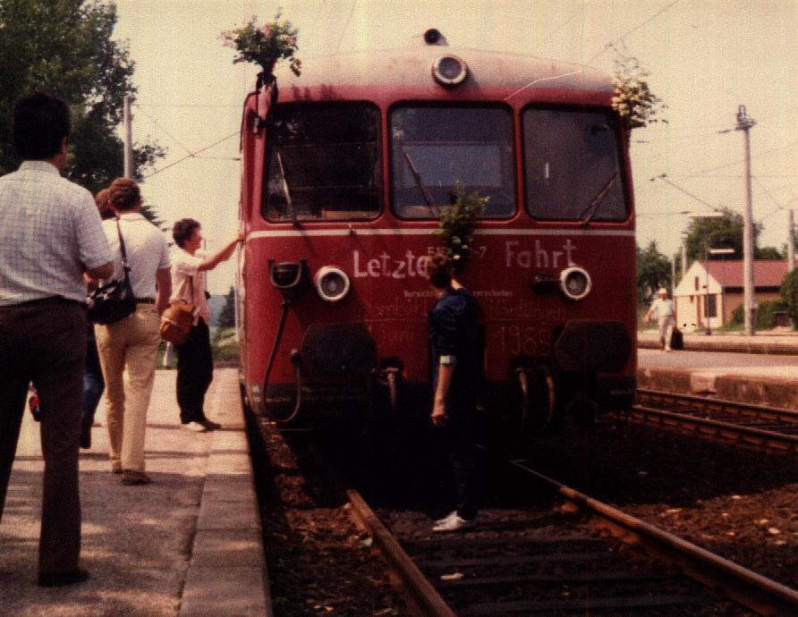 Letzte Abfahrt in Dombühl 2. Juni 1985