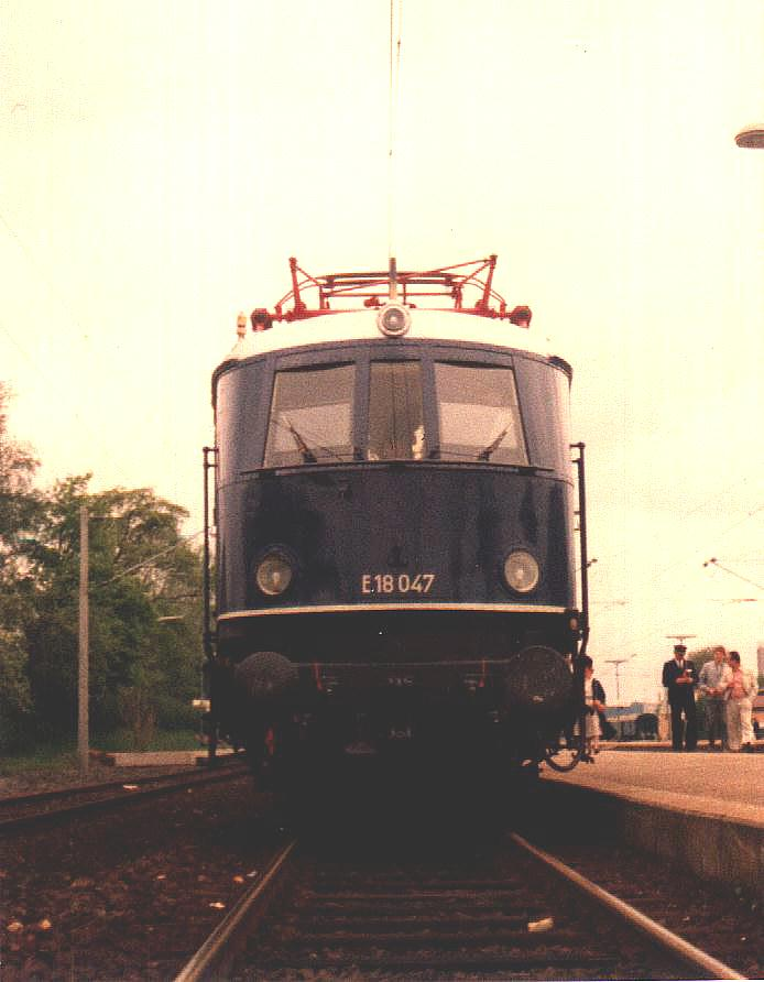 E 18 047 Mai 1985 in Dombühl