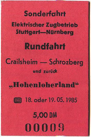 Fahrkarte 1985