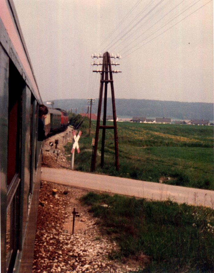 Umsetzen auf Gleis 2 in Wilburgstetten