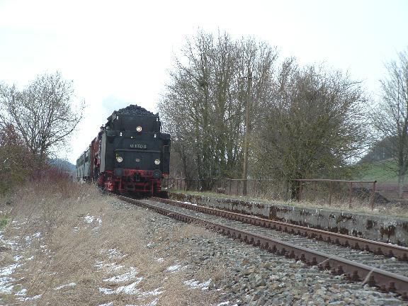 Haltepunkt Lehengütingen Ostermontag 2008