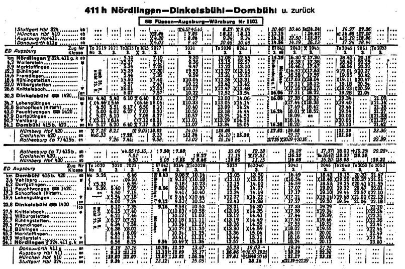 Fahrplan 1953