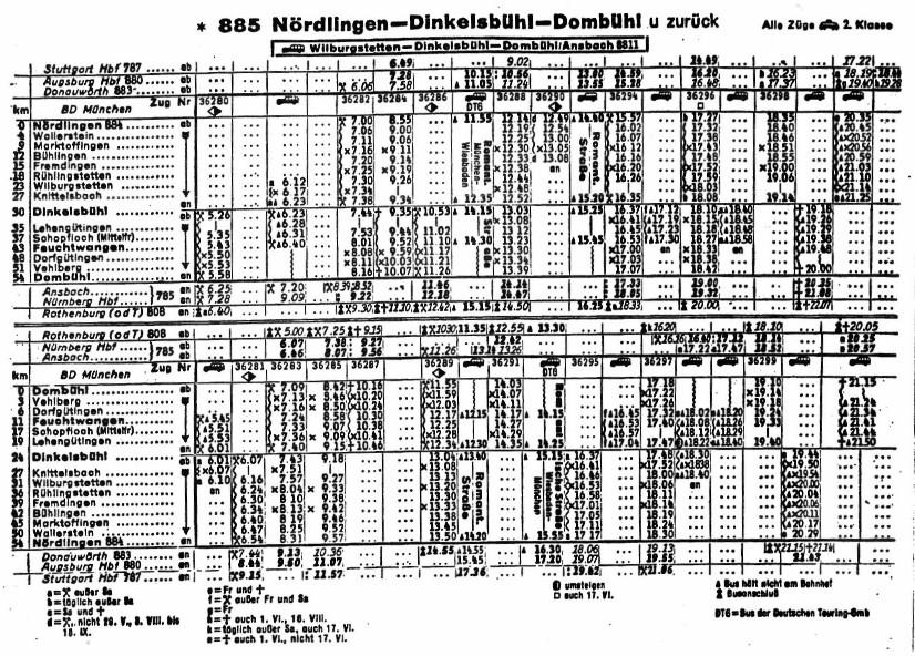 Fahrplan 1972