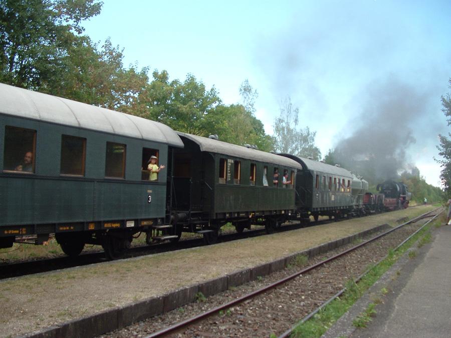 Plandampf-Güterzug Feuchtwangen August 2016