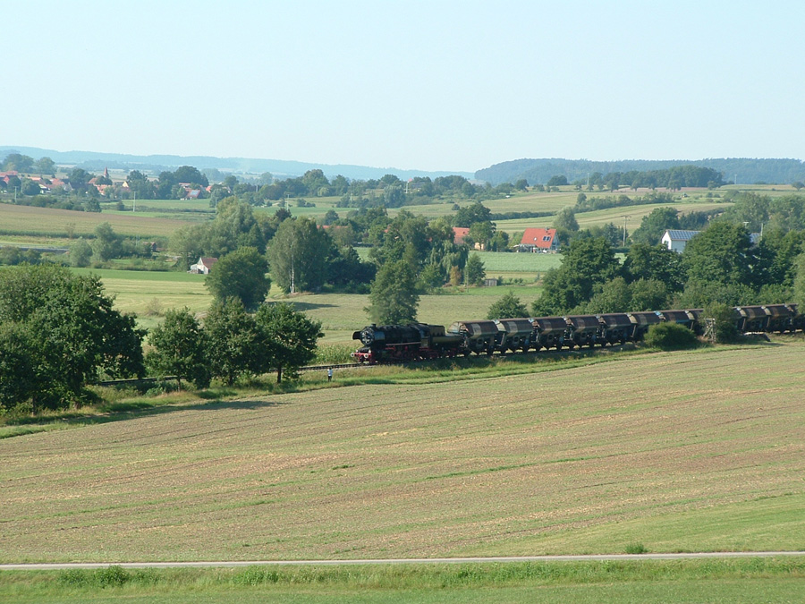 Plandampf-Güterzug Schopfloch August 2016