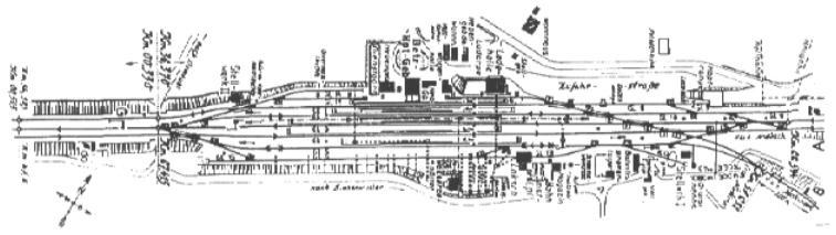 Gleisplan Dombühl