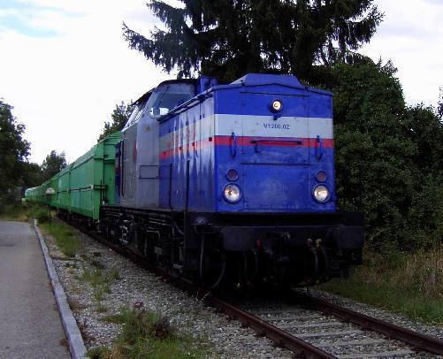 RAR V 1200.02 am 13.8.2004 Einfahrt in Nördlingen