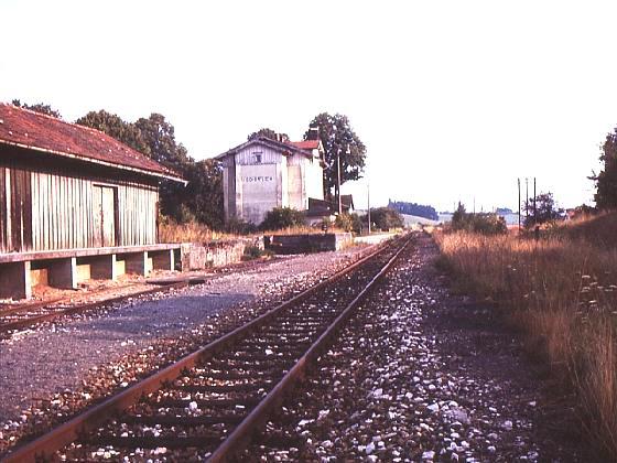 Bhf Schopfloch um 1983 - Bild: Sammlung R. Rehn