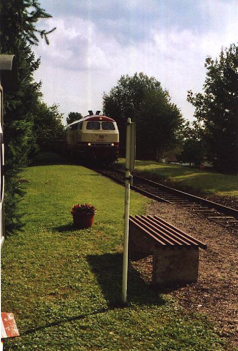 218 105-5 mit Rheingold durch Schopfloch - Sept 2010