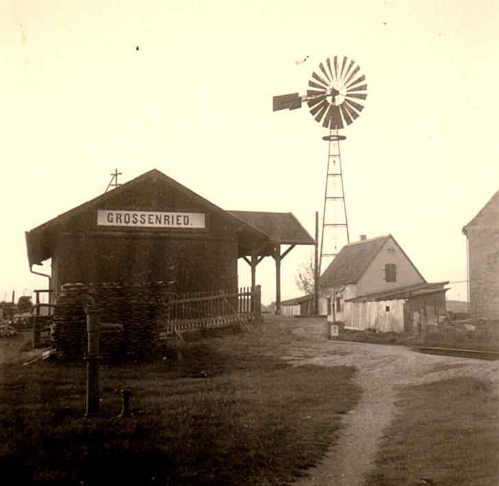 Bahnhof Grossenried um 1960