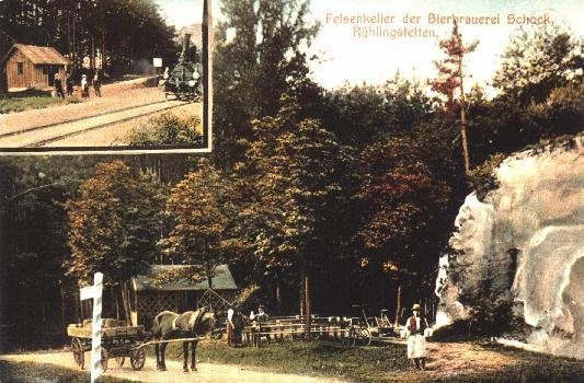 Postkarte der Brauerei Schock, Rühlingstetten