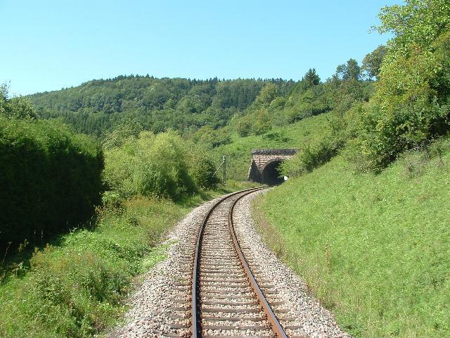 Südliches Portal Buchbergtunnel 15.08.09