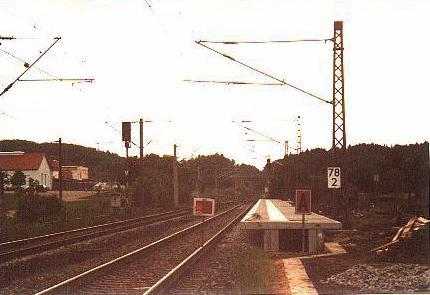 Haltepunkt Schnelldorf im Bau