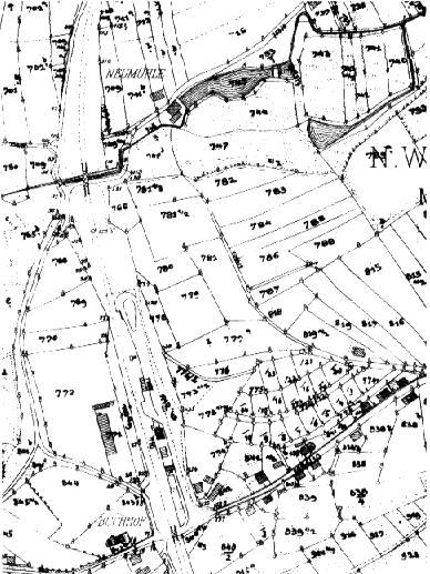 Karte um 1960